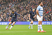 First points for Scotland from a Greig Laidlaw penalty during the Autumn Test match between Scotland and Argentina at Murrayfield, Edinburgh, Scotland on 24 November 2018.