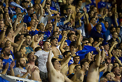 Fans of GNK Dinamo Zagreb, Bad Blue Boys during football match between GNK Dinamo Zagreb, CRO and Arsenal FC, ENG in Group F of Group Stage of UEFA Champions League 2015/16, on September 16, 2015 in Stadium Maksimir, Zagreb, Croatia. Photo by Urban Urbanc / Sportida