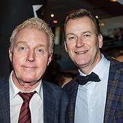 NLD/Hilversum/20150102 - Top40 viert 50 jarig bestaan, Andre van Duin en partner Martin Elferink