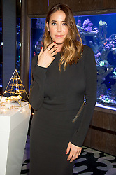 LISA SNOWDON at a party to celebrate the launch of the Lisa Snowdon jewellery collection for QVC held at Sexy Fish, Berkeley Square, London on 12th January 2016.