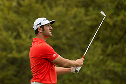 March 23, 2018 - Austin, TX, U.S. - AUSTIN, TX - MARCH 23: Jon Rahm watches his tee shot during the WGC-Dell Technologies Match Play Tournament on March 22, 2018, at the Austin Country Club in Austin, TX. (Photo by David Buono/Icon Sportswire) (Credit Image: © David Buono/Icon SMI via ZUMA Press)