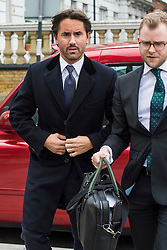 © Licensed to London News Pictures. 16/03/2016. London, UK.  JAY RUTLAND, son-in-law to F1 chief executive Bernie Ecclestone, arrives at Thames Magistrates' Court in London. Rutland faces charges of assisting an offender after allegedly helping drug king James Tarrant avoid capture in 2010. Photo credit: Ben Cawthra/LNP