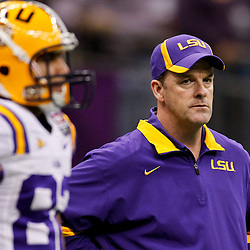 Jan 9, 2012; New Orleans, LA, USA; LSU Tigers quarterbacks coach Steve Kragthorpe before the 2012 BCS National Championship game against the Alabama Crimson Tide at the Mercedes-Benz Superdome.  Mandatory Credit: Derick E. Hingle-US PRESSWIRE