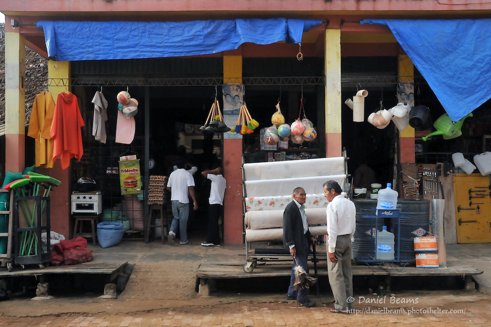 Market street in San Ignacio de Moxos, Beni, Bolivia