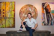 Fayetteville, Arkansas:  Artist Matt Miller in Fayetteville, AR shot for Fayetteville A&P and Sells Agency.<br /> <br /> Photography by Wesley Hitt