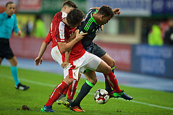 VIENNA, AUSTRIA - Thursday, October 6, 2016: Wales' Hal Robson-Kanu in action against Austria during the 2018 FIFA World Cup Qualifying Group D match at the Ernst-Happel-Stadion. (Pic by David Rawcliffe/Propaganda)
