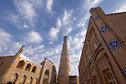 Uzbekistan, Khiva, Ichon-Qala.<br /> Islom-Hoja Minaret.