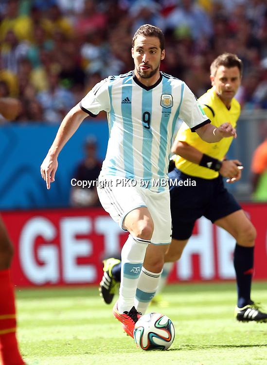 Fifa Soccer World Cup - Brazil 2014 - <br /> ARGENTINA (ARG) Vs. BELGIUM (BEL) - Quarter-finals - Estadio Nacional Brasilia -- Brazil (BRA) - 05 July 2014 <br /> Here Argentine player Gonzalo Higuain<br /> &copy; PikoPress