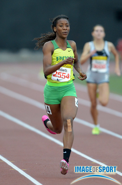 Apr 12, 2014; Arcadia, CA, USA; Kaelin Roberts of Long Beach Poly wins the girls 400m in 53.37 in the 47th Arcadia Invitational at Arcadia High.