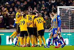Matt Doherty of Wolverhampton Wanderers celebrates with teammates after scoring a goal to make it 1-0 - Mandatory by-line: Robbie Stephenson/JMP - 05/02/2019 - FOOTBALL - Molineux - Wolverhampton, England - Wolverhampton Wanderers v Shrewsbury Town - Emirates FA Cup fourth round replay