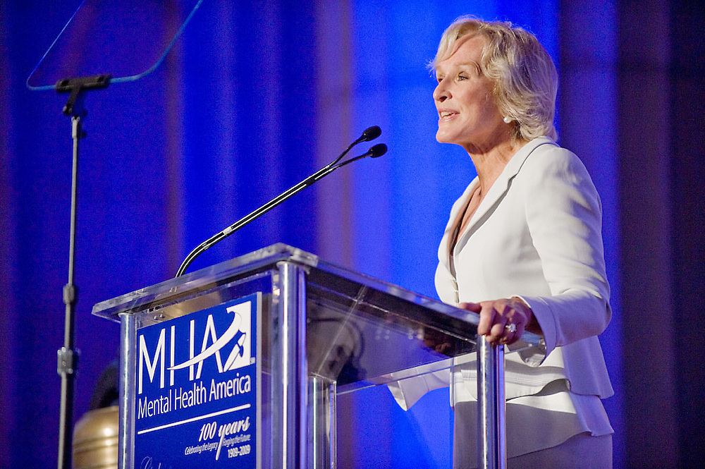 Glenn Close adresses Mental Health America's Centennial Gala, Washington, DC, June 11, 2009, Washington, DC..