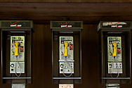 Pay phones at Delacorte Theater in Central Park