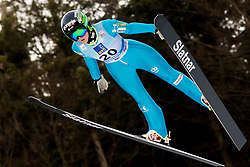 February 7, 2019 - Ljubno, Savinjska, Slovenia - Katra Komar of Slovenia competes on qualification day of the FIS Ski Jumping World Cup Ladies Ljubno on February 7, 2019 in Ljubno, Slovenia. (Credit Image: © Rok Rakun/Pacific Press via ZUMA Wire)