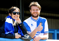 Fans - Photo mandatory by-line: Neil Brookman/JMP - Mobile: 07966 386802 - 18/04/2015 - SPORT - Football - Dover - Crabble Athletic Ground - Dover Athletic v Bristol Rovers - Vanarama Football Conference