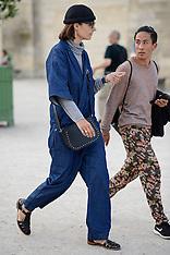 Paris - Jacquemus Street Style - 27 Sep 2016