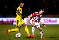 John Marquis of Doncaster Rovers takes on Patrick van Aanholt of Crystal Palace - Mandatory by-line: Robbie Stephenson/JMP - 17/02/2019 - FOOTBALL - The Keepmoat Stadium - Doncaster, England - Doncaster Rovers v Crystal Palace - Emirates FA Cup fifth round proper