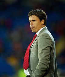 11.10.2013, City Stadion, Cardiff, WAL, FIFA WM Qualifikation, Wales vs Mazedonien, Gruppe A, im Bild Wales' manager Chris Coleman during the FIFA World Cup Qualifier Group A Match between Wales and Macedonia at the City Stadium, Cardiff, Wales on 2013/10/11. EXPA Pictures © 2013, PhotoCredit: EXPA/ Propagandaphoto/ David Rawcliffe<br /> <br /> ***** ATTENTION - OUT OF ENG, GBR, UK *****
