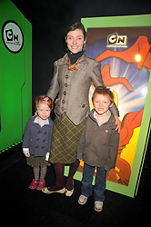 CAMILLA RUTHERFORD and her children MAUD and HECTOR at the premier of Ben Ten Alien Force at the Old Billingsgate Market, City of London on 15th February 2009.