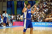 ATENE, 28 AGOSTO 2004<br /> OLIMPIADI ATENE 2004<br /> BASKET FINALE<br /> ITALIA - ARGENTINA<br /> NELLA FOTO: ROBERTO CHIACIG<br /> FOTO CIAMILLO