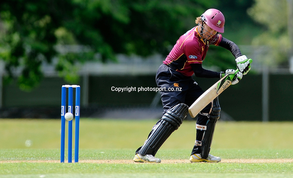 Hamiash Marshall in action for the Knights, Men's 1 Day competition cricket match between, Otago Volts v Northern Knights, at the University oval, Dunedin, New Zealand. Friday 25 November 2011 . Photo: Richard Hood photosport.co.nz