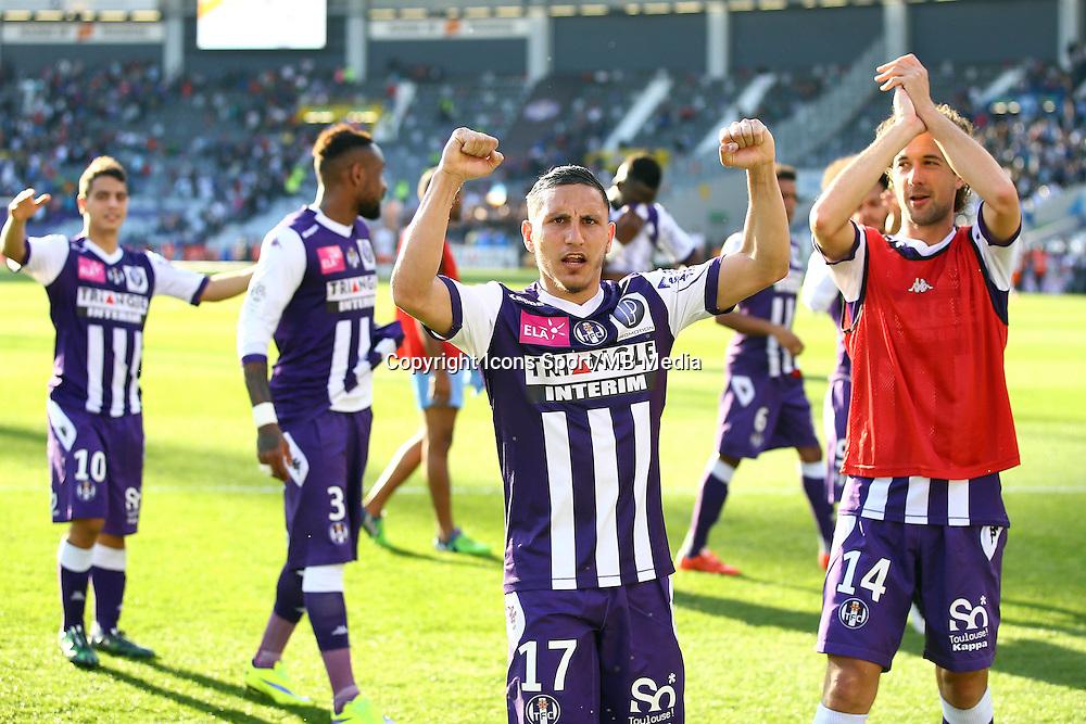 joie de Adrien Regattin  - 12.04.2015 - Toulouse / Montpellier - 32eme journee de Ligue 1 <br />Photo : Manuel Blondeau / Icon Sport