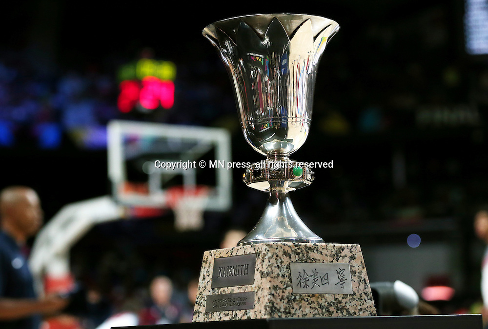 NAISMITH trophy United states of America basketball team in action during Final FIBA World cup match against Serbia, Madrid, Spain Photo: MN PRESS PHOTO<br /> Basketball, Serbia, United states of America, Final, FIBA World cup Spain 2014