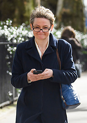 © Licensed to London News Pictures. 11/03/2019. London, UK. Labour MP YVETTE COOPER is seen in Westminster, the day before MPs are due to hold a vote on Theresa May's Brexit deal. Parliament is expected to reject the Prime Ministers deal, with suggestions that there could be attempts to remove the PM if there is any delay to Brexit. Photo credit: Ben Cawthra/LNP