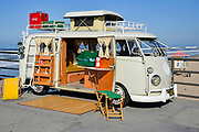 Classic Volkswagen Van on the Huntington Beach Pier