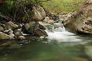 Small waterfall and pool on Hanakapi'ai Stream, Kauai, Hawaii