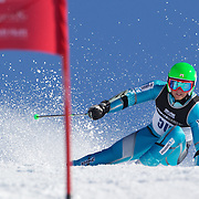 Joergen Brath, Norway, in action during the Men's Giant Slalom competition at Coronet Peak, New Zealand during the Winter Games. Queenstown, New Zealand, 22nd August 2011. Photo Tim Clayton