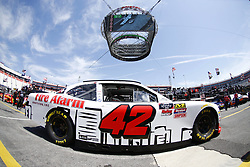 April 13, 2018 - Bristol, Tennessee, United States of America - April 13, 2018 - Bristol, Tennessee, USA: John Hunter Nemechek (42) drives his car under Colossus TV during opening practice for the Fitzgerald Glider Kits 300 at Bristol Motor Speedway in Bristol, Tennessee. (Credit Image: © Chris Owens Asp Inc/ASP via ZUMA Wire)