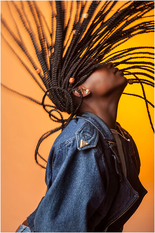 The denim jacket with Viviane Kuissen 2 by Munich Fashion Photographer - Kpaou Kondodji
