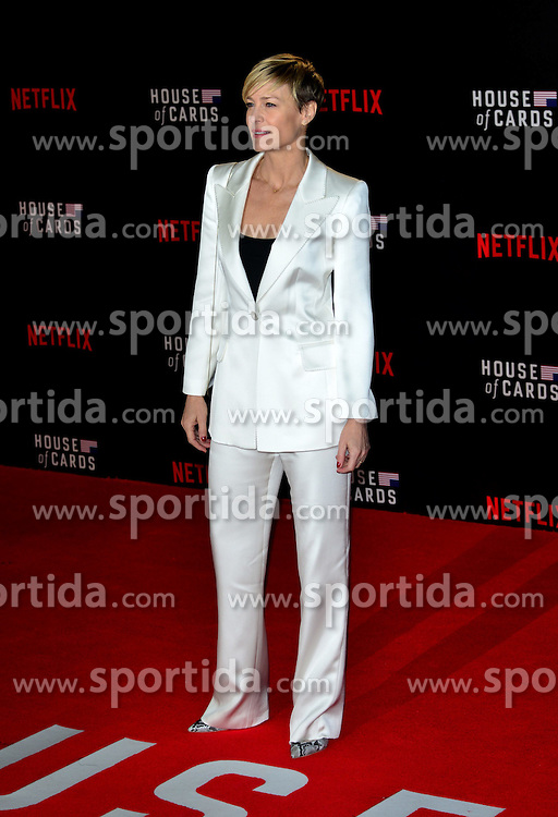 Robin Wright at the House Of Cards - UK TV premiere at The Empire Leicester Square in London. 26th February 2015. EXPA Pictures © 2015, PhotoCredit: EXPA/ Photoshot/ Brian Jordan<br /> <br /> *****ATTENTION - for AUT, SLO, CRO, SRB, BIH, MAZ only*****