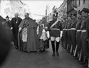 The Patrician Year, marking the fifteenth centenary of the death of Saint Patrick, opened in March in Armagh. Here, special Papal Legate, Cardinal McIntyre, sent to preside over the ceremonies, is pictured with the then Bishop Conway..16.03.1961