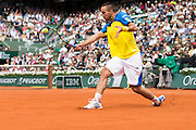Paris, France. Roland Garros. June 2nd 2013.<br /> Serbian player Viktor TROICKI against Jo-Wilfried TSONGA