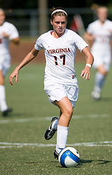 Virginia Cavaliers M/F Sinead Farrelly (17)..The Virginia Cavaliers women's soccer team defeated the William and Mary Tribe 1-0 in double overtime at Klockner Stadium in Charlottesville, VA on September 23, 2007.
