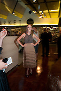 FLORRIE ARNOLD, Mark Jacobs' Bang' fragrance preview. Harvey Nicholls. London. 22 July 2010. -DO NOT ARCHIVE-© Copyright Photograph by Dafydd Jones. 248 Clapham Rd. London SW9 0PZ. Tel 0207 820 0771. www.dafjones.com.