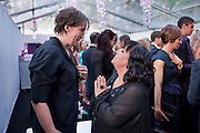 MIRANDA HART; DAWN FRENCH, Glamour Women of the Year Awards 2011. Berkeley Sq. London. 9 June 2011.<br /> <br />  , -DO NOT ARCHIVE-© Copyright Photograph by Dafydd Jones. 248 Clapham Rd. London SW9 0PZ. Tel 0207 820 0771. www.dafjones.com.