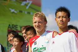 Hong Kong, China - Thursday, July 26, 2007: Liverpool's Dirk Kuyt attend the Adidas Asia Challenge 2007, a 5-a-side event at the Tsimshatsui Drive-in Theatre in Hong Kong. (Photo by David Rawcliffe/Propaganda)