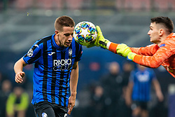 November 26, 2019, Milano, Italy: mario pasalic (atalanta) and dominik livakovic (gnk dinamo zagreb)during Tournament round - Atalanta vs Dinamo Zagreb , Soccer Champions League Men Championship in Milano, Italy, November 26 2019 - LPS/Francesco Scaccianoce (Credit Image: © Francesco Scaccianoce/LPS via ZUMA Wire)