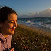 Sunrise along Lake Worth Beach near Palm Beach, Florida. MR Model Release<br /> Photography by Jose More