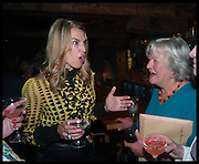 ASSIA WEBSTER; LYNN BARBER, Lynn Barber celebrates her 70th birthday and the publiction of ' A Curious Career. Hixter, 9a Devonshire Sq. London. 8 May 2014.