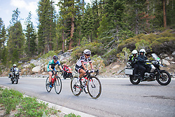 Coryn Rivera (USA) of Team Sunweb leads the break on Stage 2 of the Amgen Tour of California - a 108 km road race, starting and finishing in South Lake Tahoe on May 18, 2018, in California, United States. (Photo by Balint Hamvas/Velofocus.com)