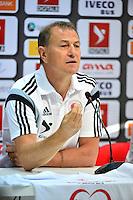 Gianni DE BIASI - 12.06.2015 - COnference de presse Albanie veille du match contre la France-Elbasan<br /> Photo : WinterPress / Icon Sport