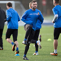 St Johnstone Training...12.12.14<br /> James McFadden pictured training on the new all weather pitch at McDiarmid Park ahead of tomorrow's game at Kilmarnock<br /> Picture by Graeme Hart.<br /> Copyright Perthshire Picture Agency<br /> Tel: 01738 623350  Mobile: 07990 594431