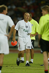 BANGKOK, THAILAND - Wednesday, July 23, 2003: Liverpool's new coach Christian Damiano during a training session in at the Rajamangala National Stadium. (Pic by David Rawcliffe/Propaganda)