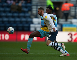 Semi Ajayi of Rotherham United (L) and Louis Moult of Preston North End in action - Mandatory by-line: Jack Phillips/JMP - 27/10/2018 - FOOTBALL - Deepdale - Preston, England - Preston North End v Rotherham United - English League Championship