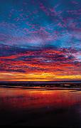 Sunset at Neskowin Beach, Newskowin, Oregon.