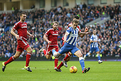 James Wilson of Brighton & Hove Albion shot is off target - Mandatory byline: Jason Brown/JMP - 07966 386802 - 19/12/2015 - FOOTBALL - American Express Community Stadium - Brighton,  England - Brighton & Hove Albion v Middlesbrough - Championship