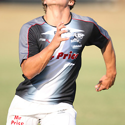 Patrick Lambie<br /> is pictured during the Sharks training session at the Absa Stadium on Thursday 15th April 2010 in Durban, South Africa. . Photo by Steve Haag